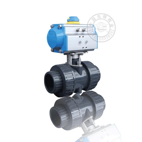 Q661F-10S 氣動焊接浮動球直通流道軟密封塑料(PVC)球閥