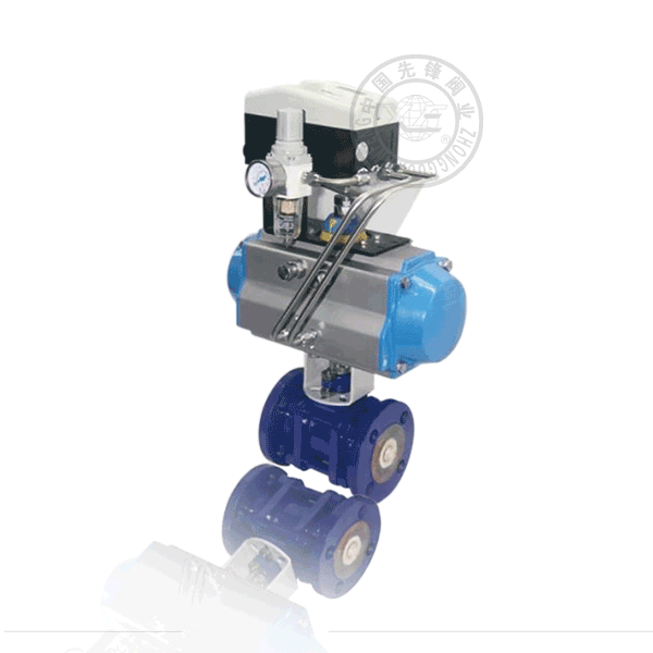 Q641TC-16C 气动法兰浮动球直通流道陶瓷铸钢(WCB)球阀